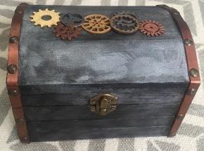 Steampunk wooden box