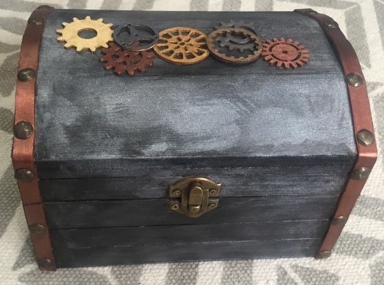 Steampunk wooden box
