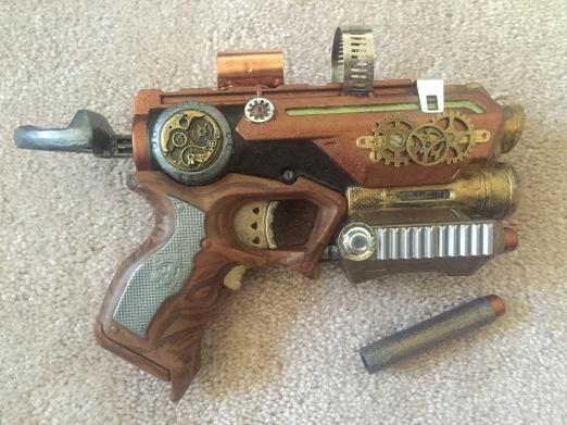 Steampunk'd nerf gun
